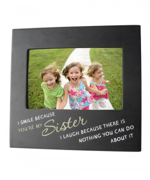 Screen-printed with a clever quote, this modern frame has a spunky ...
