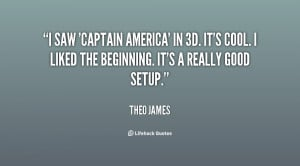 saw 'Captain America' in 3D. It's cool. I liked the beginning. It's ...