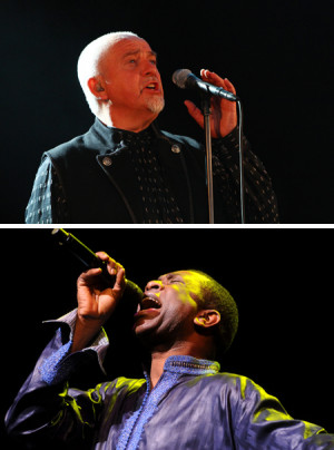 Peter Gabriel (top, photo by Jay West); Youssou N'Dour (photo by John