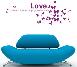Butterfly-Butterflies-Love-and-Quotes-Wall-Sticker-Beautiful-Life ...