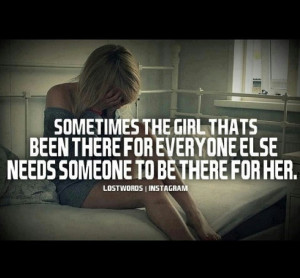 So tired of always being the strong one, holding it together & always ...