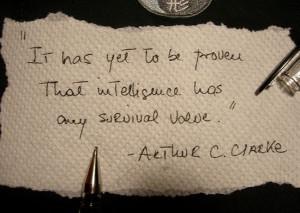 Arthur C. Clarke napkin quote