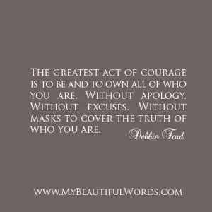 The Greatest Act of Courage...