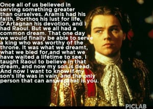 Man in the iron mask movie quoteMovie Quotes