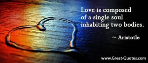 Greek philosophy quotes on love