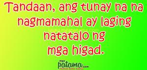 Higad Patama Quotes sa mga Malalandi