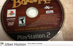 Huh? I don't ge…..damn you, video game CD.