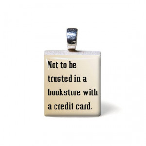 ... bookstore with a credit card by TarryTiles, #quote #saying via etsy