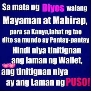God Quotes For Mayaman Mahirap