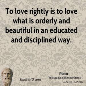 Plato Love Quotes