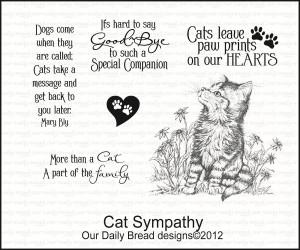 Words Of Sympathy Quotes Cat sympathy