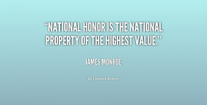 """National honor is the national property of the highest value."""""""