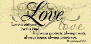 Quote From The Bible About Love is Kind Love is Patient Kind Bible