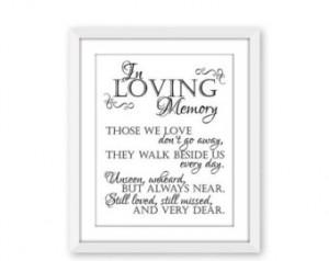 75% OFF THRU 5/9 In Loving Memory, Printable Sign for Wedding Memorial ...