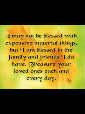 am blessed...