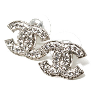 Coco Chanel Earrings Double C