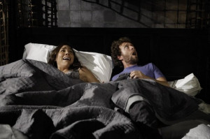 Still of Michaela Conlin and T.J. Thyne in Bones (2005)