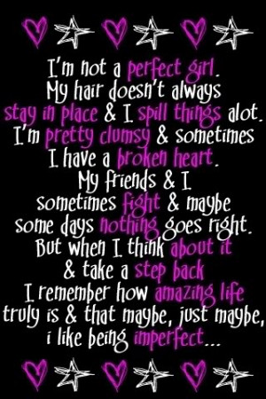 Am Not A Perfect Girl Baby Quote Wallpaper #10 - Resolution 320x480 ...