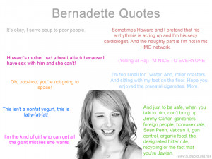 Bernadette Quotes – The Big Bang Theory