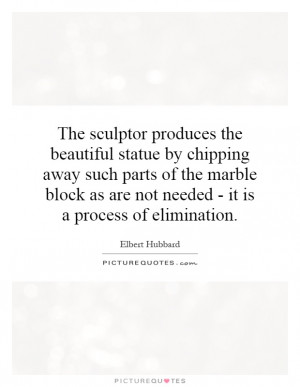 ... as are not needed - it is a process of elimination Picture Quote #1