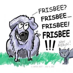 Cartoon Frisbee
