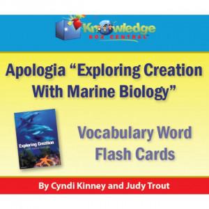... Exploring Creation w/ Marine Biology Vocabulary Words Flash Cards