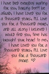 ... Years Lyrics, A Thousand Years, First Dance Songs, Music Quotes Love