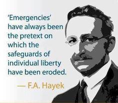 Hayek on emergencies. liberti quot, f.a. hayek quotes, famous ...