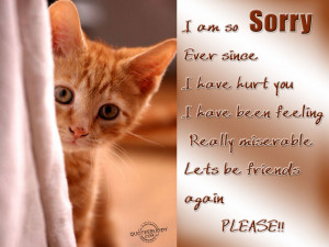 Am So Sorry Ever Since, I Have Hurt You, I Have Been Feeling Really ...