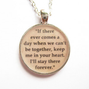 Winnie the Pooh Quote Necklace, Quotation Jewelry, Pooh Bear, If There ...