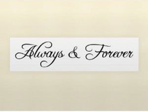 Details about Forever and Always Love Wall Sticker Decal Quote Vinyl ...