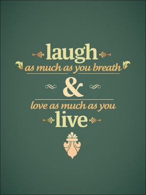 Frase de Laugh and Live