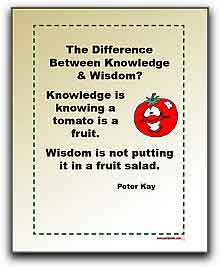 Quotes: The Difference Between Knowledge and Wisdom