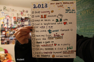New Years resolutions list :) yeah I know I'm late ok