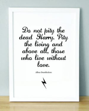 Harry Potter Dumbledore quote
