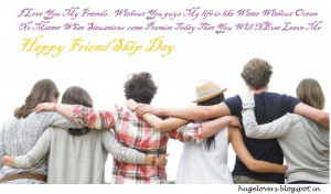Friendship means a group of unity and understandings