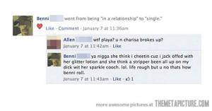 funny black man Facebook holiday