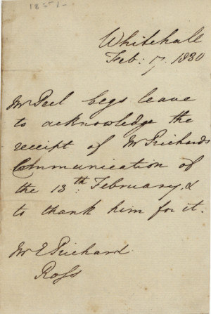 sir robert peel 1788 1850 autograph letter signed