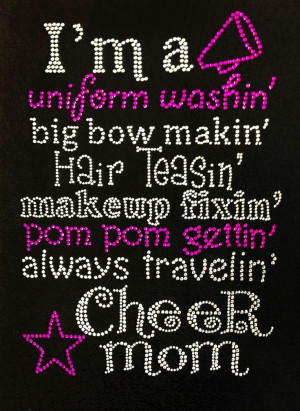 ... The IN THING Boutique !! BLING SHIRTS !! RHINESTONE !! CHEER MOM FAN