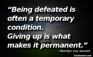 Defeat Quotes, Sayings about losing