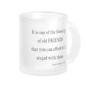 Vintage Emerson Friendship Blessing Quote Coffee Mug