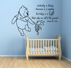 Winnie The Pooh Wall Decals Piglet Wall Quotes Words Children Vinyl ...