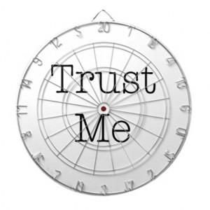 Trust Me Quotes Inspirational Faith Quote Dartboard