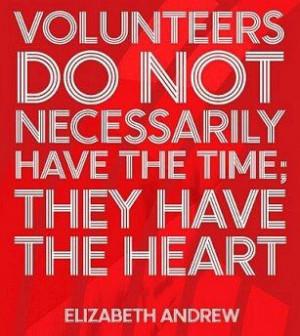 volunteer doing something you love