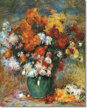 Renoir, Bouquet of Chrysanthemums, c. 1885, oil on canvas, Musee des ...