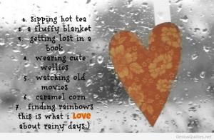 Rainy summer days quotes