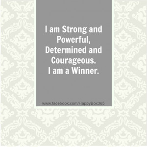 and Courageous. I am a Winner. #affirmations #quotes #winner ...