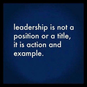 ... following items are ways that you can improve on leading by example