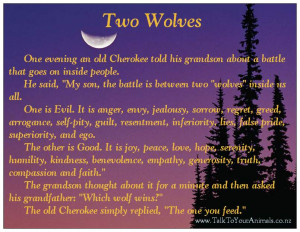 Cherokee Indian Wolves Quote