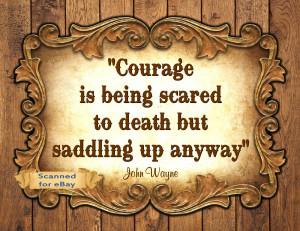 John Wayne Quote Western Cowboy Art Print